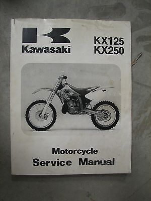 Kawasaki Kx125 Kx250 '94-'98 Motorcycle Service Manual