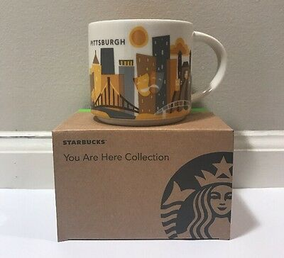 Pittsburgh Starbucks You Are Here 14 Oz Mug, New In Box