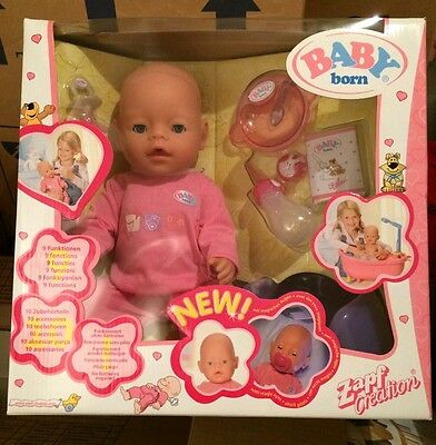 Baby Born Interactive Baby Girl Newborn Baby Doll with Accessories NEW BOXED