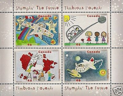 Canada Stamps -Souvenir sheet of 4 -Stampin' The Future #1862b -MNH