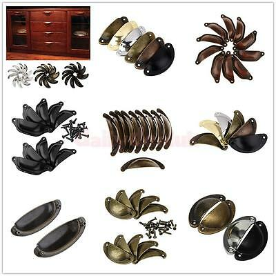 6/ 10pcs Cupboard Door Antique Shell Pull Handles Kitchen Cabinet Drawer Knobs