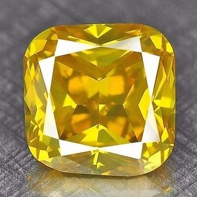 Beautiful Top Quality  Canary Yellow Fancy Color Natural Diamond Refer Video