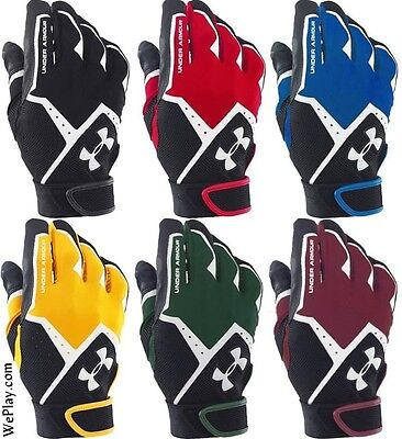 Under Armour Clean Up Baseball Batting Gloves, ADULT, 1267426