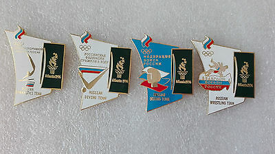 Russia NOC set of 4 Olympic event pins 1000 limited edition Atlanta 1996