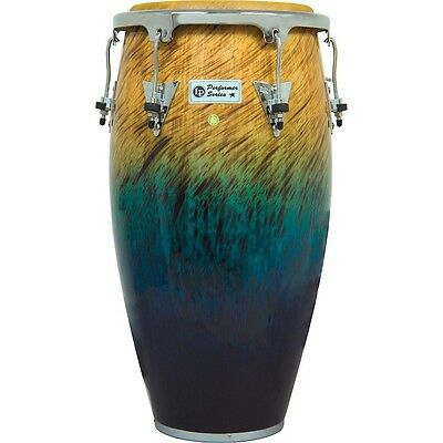 LP Performer Series Conga with Chrome Hardware 12.5 in. Tumba Blue Fade LN