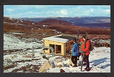 """""""SKI-ING IN THE CAIRNGORMS""""  Postcard Scotland  Inverness-shire"""