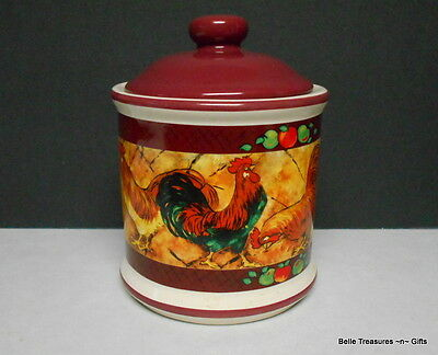 Ceramic Rooster Goodie Jar Canister