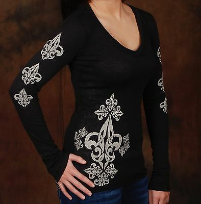 13pc Lot Women's Long Sleeve Graphic Tee, Sold in Boutiques, New
