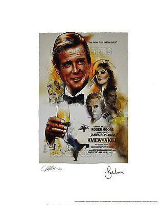A View To A Kill - Official Ltd Ed Bond Lithograph - SIGNED by Moore & Artist!