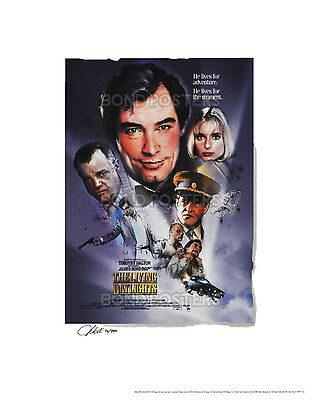 The Living Daylights - Official Ltd Ed James Bond Lithograph - SIGNED by Artist!