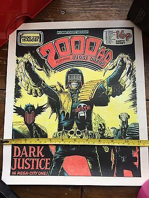 """Dark Justice"" Brian Bolland Screen Print 2000ad Prog 225 Judge Dredd & Death"