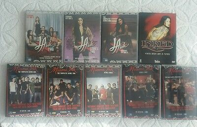 la ink / miami ink / inked          8 boxsets 31 dvds  in total