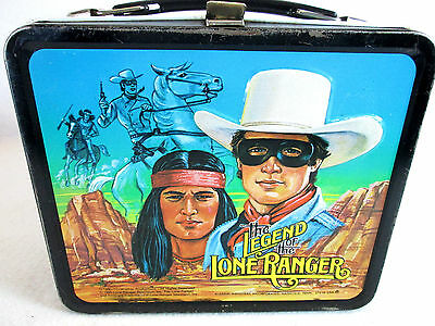 Vintage 1980 The Legend of the Lone Ranger metal lunch box by Aladdin