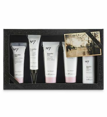 No7 BEAUTIFUL SKIN COLLECTION GIFT SET  Lotion  Exfoliator Day & Night Cream