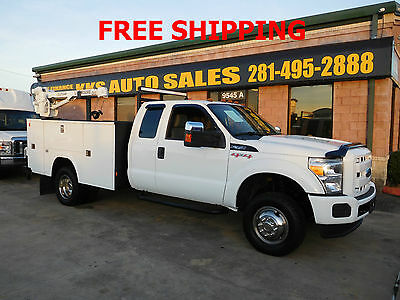 2012 Ford F-350 XL Extended Cab Pickup 4-Door 2012 Ford F-350 Super Duty  4x4 XL Utility Service Truck With Crane
