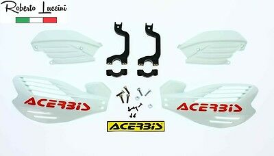 Acerbis Handprotektoren Handguards X-FORCE Motocross Enduro Rot Red White Weiss