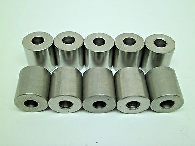 """10 New Ss Stainless Spacer Unthreaded 5/8 X 3/4"""" X 1/4 Pack Of 10 Bushing Rc"""