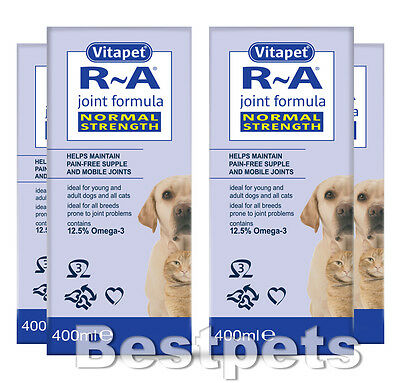 Vitapet R A Joint Formula for Cats & Dogs Normal Strength 150ml 400ml 1.2L 1.6L