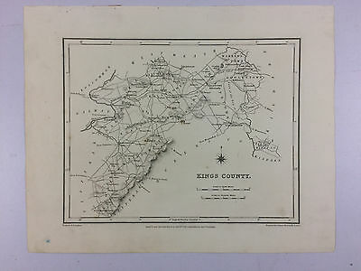 Offaly Kings County by Samuel Lewis antique map Ireland Circa 1837 B16