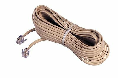 25FT Feet RJ11 4C Modular Telephone Extension Phone Cord Cable Line Wire 5 LOT