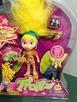 Trollz It's A Hair Thing.topaz Trollhopper Glitter And Glam  Brand New Sealed