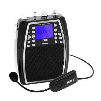Portable Microphone & Amplifier PA Speaker System Rechargeable. Wireless Headset