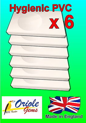 Pack of 6 PVC Budgie nesting concaves