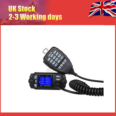 Hot QYT KT-8900D Dual Band VHF UHF Color LCD QuadStandy Mobile Radio Transceiver