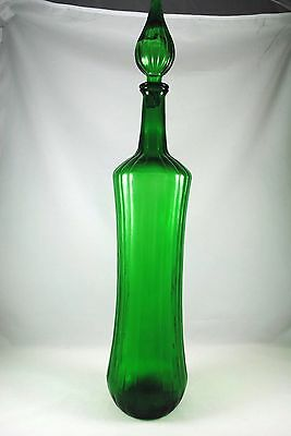 Large 0.5m Tall Chemist GREEN GLASS Bottle +Top Ideal for Display or Conversion