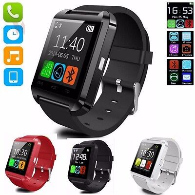 Men Women Bluetooth Sport Office Wrist Smart Watch Phone Mate For Android Iphone