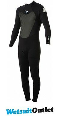 2016 Rip Curl Omega 3/2mm Back Zip GBS Wetsuit WSM4LM BLACK