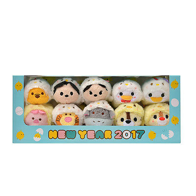 2017 Disney Japan, BOX set of Birds of TSUM TSUM, Mickey Mouse & friends.