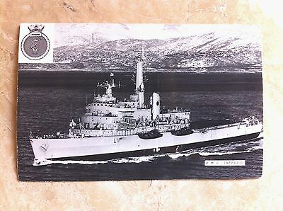 HMS Intrepid. Real Photographic Postcard