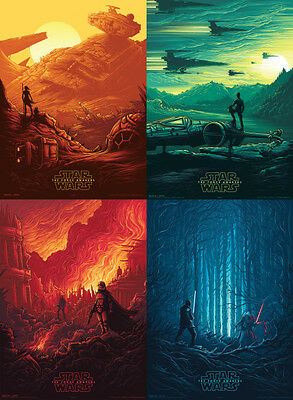 SALE! x4 Ltd. Edition StarWars Force Awakens VII Poster (Rouge One) Complete Set