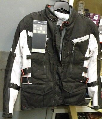 REV'IT  SAND 2  Motorcycle Jacket, Silver Black,Size Large  NEW!