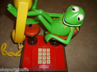 KERMIT THE FROG VINTAGE PHONE 1980s JIM HENSEN THE MUPPETS EXCELLENT WORKING