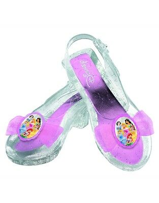Disney Princess Costume Accessory Clear Glitter Child Shoes Size 6