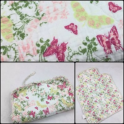 Baby Girls Floral Portable Travel Changing Mat Nappy Diaper