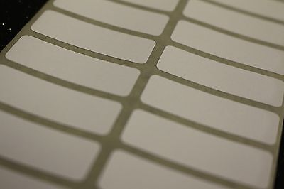 100 White Sticky Labels, Blank, Plain/Price stickers, Files, Tags, 38mm x 13mm