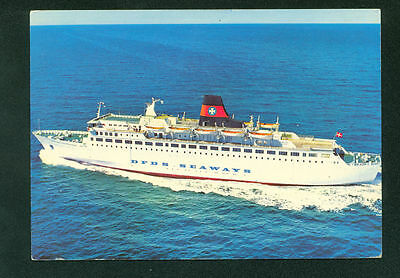 DFDS Seaway Bergen Norway Cruise Ship Continental Vintage Postcard