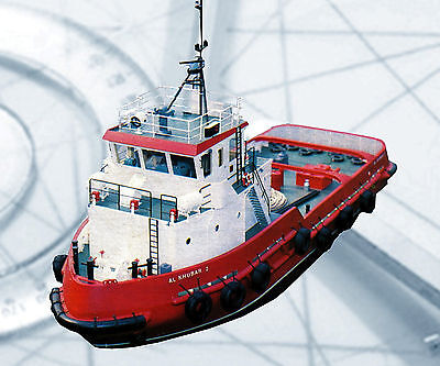 """Model Boat PLAN 1/24 Scale 40"""" R/C Harbour Tug Full Size Printed Plans & Notes"""