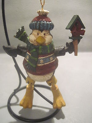 Resin Penguin Ornament With Hinged Arms And Legs