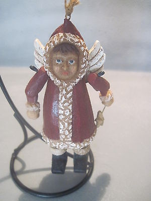 Resin Winter Fairy Ornament With Hinged Arms And Legs (0112)