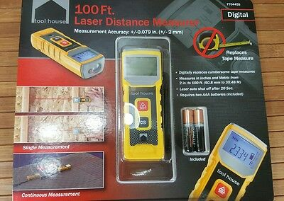NEW Tool House Laser Distance Meter 100FT DIGITAL 770445S Nifty little tool