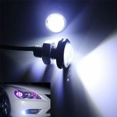 4pcs Car Motorcycle 9W LED Eagle Eye Backup Light DRL Running Lamp Litch Black
