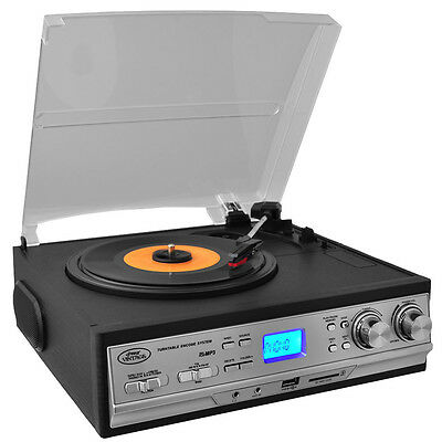 Pyle Classic Retro Style Turntable with AM/FM Radio  Cassette Player  amp  Aux I