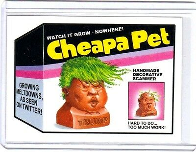 """2017 Wacky Packages/garbage Pail Kids Disg-Race  """"cheapa Pet"""" #120 Limited Ed."""