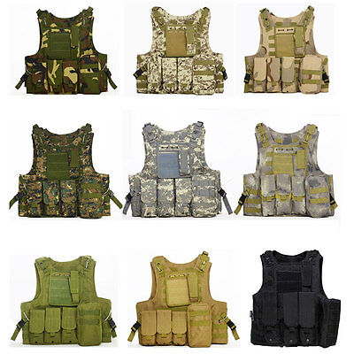 Tactical Military Combat Vest Outdoor Paintball CS Hunting Training Waistcoat