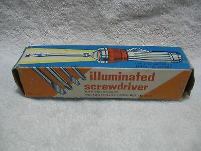 Vintage Illuminated Metal Screwdriver NOS-Collectible Tools-Display-Automotive!!