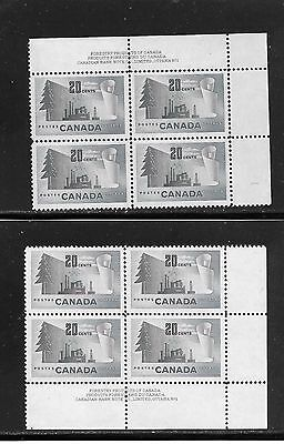 Canada Forestry Products 20 Cents Pl. 1 U.r. + L.r.  # 316